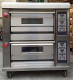 산업 2개의 갑판 4 쟁반 빵 굽기 가스 피자 오븐