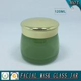 verde 120ml e vaso cosmetico di vetro colorato colore rosa