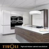 Insiemi di legno classici dei Governi di Ktichen del paese per gli armadietti bianchi pronti della cucina in azione Tivo-0056h