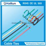 Individu 304 verrouillant les relations étroites électriques durables personnalisées de fermeture éclair avec les serres-câble enduits d'acier inoxydable de PVC