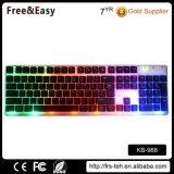 最も新しい虹のLEDによってバックライトを当てられるUSBによってワイヤーで縛られるコンピュータのキーボード