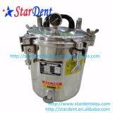 pentola a pressione dentale della strumentazione di laboratorio 12L senza sterilizzazione portatile dello sterilizzatore dell'acciaio inossidabile del rubinetto