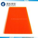 주황색 색깔 폴리탄산염 쌍둥이 벽 플라스틱 장