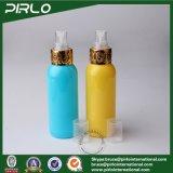 [100مل] أصفر وزرقاء محبوب بلاستيكيّة رذاذ زجاجة مستحضر تجميل سائل تعليب زجاجة بلاستيكيّة مع معدن غطاء