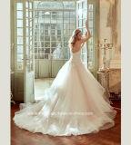 Vestido de casamento destacável nupcial Strapless G1784 do trem dos vestidos de esfera
