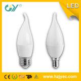 Luz blanca de la vela del color 6W E14 Cl37 con Ce
