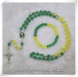 종교적인 약품 놓이는 플라스틱 다채로운 구슬 묵주 (IO crs007)