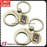 Дешевый изготовленный на заказ держатель Keychains монетки металла
