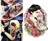Autoadesivo provvisorio impermeabile del tatuaggio del lupo del fiore del gufo di bellezza
