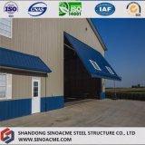 Taller de acero prefabricado de la construcción con el entresuelo y la oficina