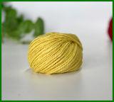 Gefärbtes Jutefaser-Garn (Gelb) für die Gestaltungsarbeits-Herstellung