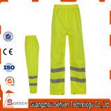 Baumwollhohe Sicht-Arbeits-Hosen 100% des Gelbs