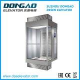 Ascenseur guidé en verre avec la qualité