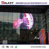 Caliente-Vendiendo P3.75/P5/P7.5/P10/P16/P20 a todo color transparente/vidrio/pantalla de visualización video de la ventana/de la cortina LED/muestra/pared para hacer publicidad