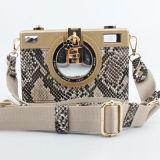 최신 Crossbody Bag Fashion Evening 판매 뱀 디자인 숙녀 지갑 Eb849