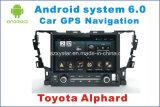 Nouvelle navigation GPS pour voiture Ui Android 6.0 pour Toyota Alphard 2015 avec lecteur DVD de voiture