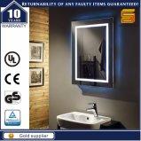 A parede pendurou o espelho Backlit Defogger da iluminação do diodo emissor de luz do banheiro