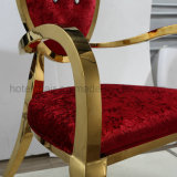 Gold High高貴な様式椅子を食事する贅沢な王のステンレス鋼