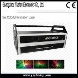 3W luz laser de la animación colorida de la etapa DMX
