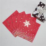 Nuevo diseño de Foiling Oro servilleta de papel para la Navidad y el cumpleaños