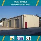 Almacén prefabricado de la estructura de acero del palmo grande del taller del diseño de acero ligero de la construcción