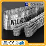 4000kgs Poliéster Flat Webbing Slings Double Ply Eye para o tipo de olho En1492-1 com Ce & GS
