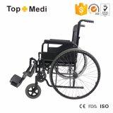 Topmedi ha cromato la sedia a rotelle d'acciaio Tsw901 dell'ospedale del blocco per grafici d'acciaio