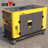 バイソン(中国) 10kw 10000Wの銅線の長期間の時間携帯用極度の無声ディーゼル発電機3-Phase 50Hz 220V/380V