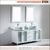 Weißer Lack-Glaseitelkeits-Oberseite-Badezimmer-Eitelkeit T9140-48W