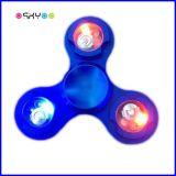 Iluminação LED Fidget Gyro Hand Tri Spinner