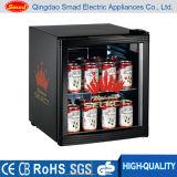 Mini Showcase do refrigerador do indicador, mini refrigerador da porta de vidro