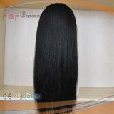 La mitad máquina mitad hechas a mano peluca de cabello Brasileño (PPG-L-01342)