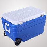 キャンプに食糧を涼しい/氷のトロリークーラーボックス保存しなさい