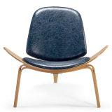 シェルの椅子の居間PU革および木椅子(K25)