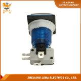 電気正方形の押しボタンスイッチ青いPbs-008
