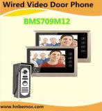 Vidéo de 7 pouces Door Phone sonnette Système d'interphone avec le 1-caméra 2-moniteurs