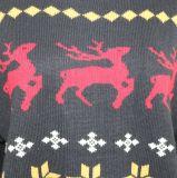 Presente do Natal da camisola de Ladeis no projeto do jacquard e na qualidade acrílica Handfeel macio
