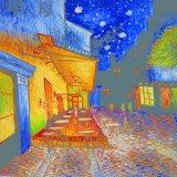 カエデの木ホーム装飾のための夜分の夜の通行人
