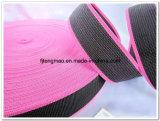 450d袋のための黒いピンクFDYのポリプロピレンのウェビング
