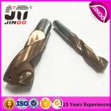 Dígito binario de taladro Titanium de torcedura de la capa del carburo de tungsteno