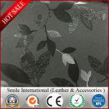 Высокосортная кожа PVC кожи масла протягивая оптовые продажи затыловки 1.0mm