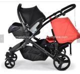 Zwilling-Baby-Spaziergänger, BabyPram