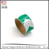 Verde e Branco Plaid Aviso de Segurança Adesivo de Fita Refletora