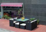 余暇の食堂の藤の家具の正方形表セット