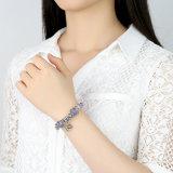 قلب إلى قلب مدلّاة & [سفتي شين] أرجوانيّة [مورنو] خرزة أساور مجوهرات