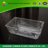 Bandeja del acondicionamiento de los alimentos congelados del material plástico