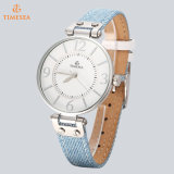 Ladies Quartz Watch Classic Big Dial Bracelet en cuir Watch 71315