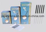 Agujas de la acupuntura con la maneta del plástico ambiental y conductor