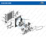 Ventilateur de refroidissement initial de radiateur de Yutong de vente chaude de #600 #64 1308-00241