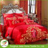 Conjunto de cama de noiva de casamento vermelho 4PCS personalizado 4PCS